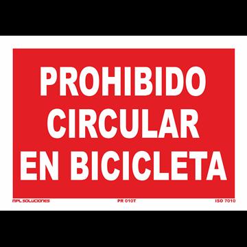 Señal: Prohibido circular en bicicleta