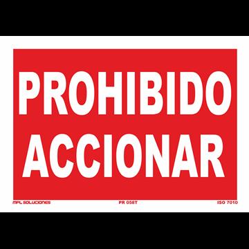 Señal: Prohibido accionar