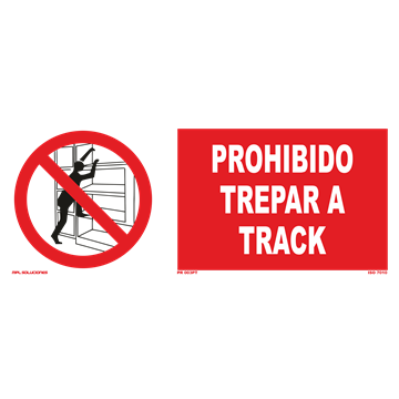 Señal: Prohibido trepar a track