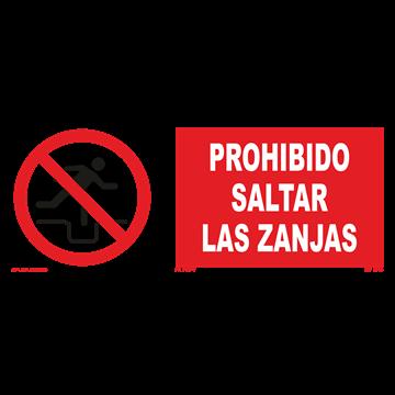 Señal: Prohibido saltar zanjas