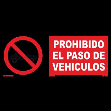 Señal: Prohibido paso de vehiculos