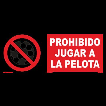 Señal: Prohibido jugar a la pelota