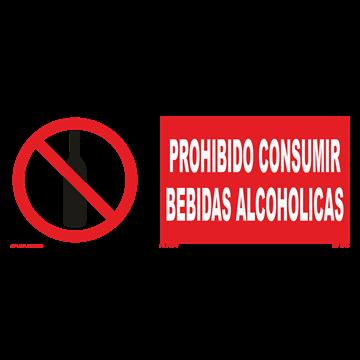 Señal: Prohibido consumir bebidas alcoholicas