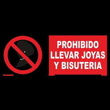 Señal: Prohibido llevar joyas y bisuteria