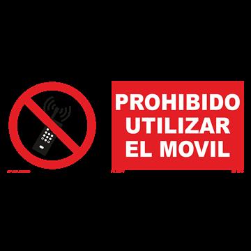 Señal: Prohibido utilizar el movil