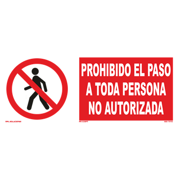 Señal: Circulacion prohibida