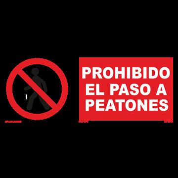 Señal: Prohibido el paso a peatones
