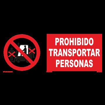 Señal: Prohibido transportar personas