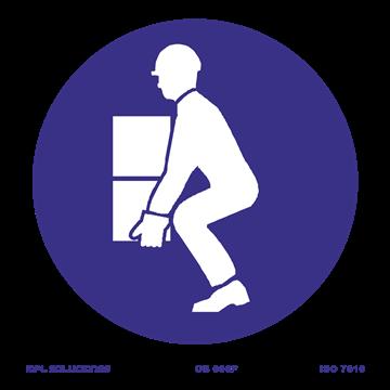 Señal: Doblar las rodillas para levantar peso