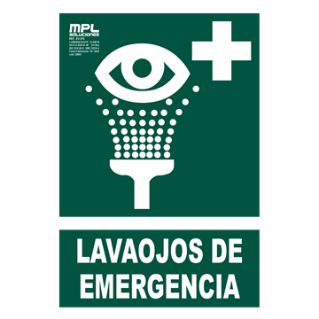 Señal: Lavaojos de emergencia