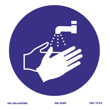 Señal: Obligatorio lavarse las manos