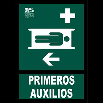 Señal: Primeros auxilios izquierda