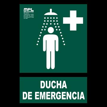 Señal: Ducha de emergencia