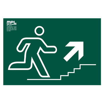 Señal: Subida escalera derecha