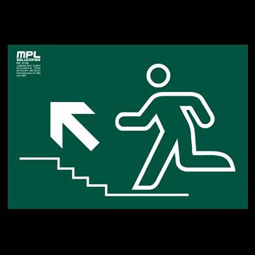 Señal: Subida escalera izquierda