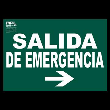 Señal: Salida de emergencia derecha