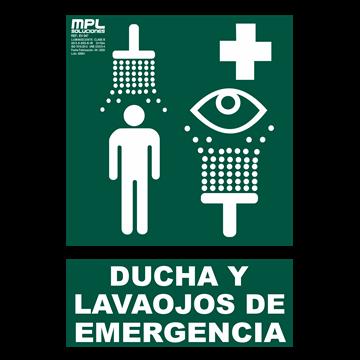 Señal: DUCHA Y LAVAOJOS DE EMERGENCIA