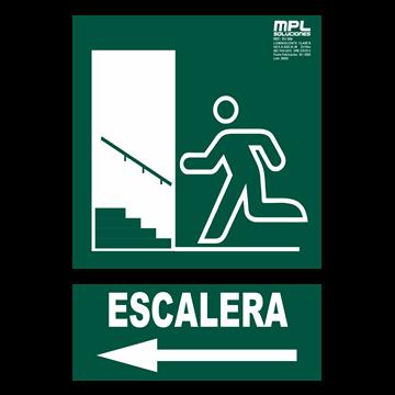 Señal: SALIDA ESCALERA IZQ.