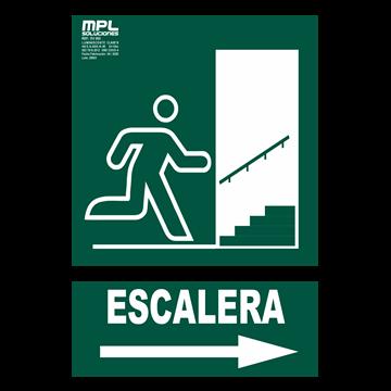 Señal: SALIDA ESCALERA DER.