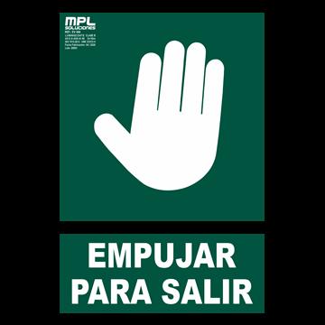 Señal: EMPUJAR PARA SALIR