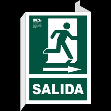 Banderola: Salida de emergencia derecha