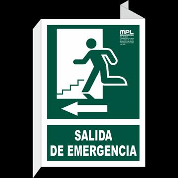 Banderola: Salida de emergencia izquierda