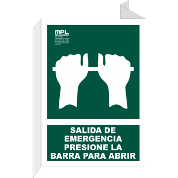 Banderola: Presionar la barra para salir