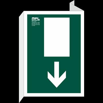 Banderola: Salida de emergencia abajo