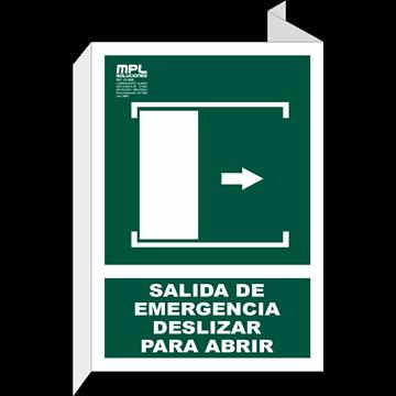 Banderola: Salida de emergencia deslizar derecha