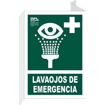 Banderola: Lavaojos de emergencia