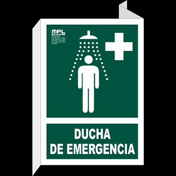 Banderola: Ducha de emergencia