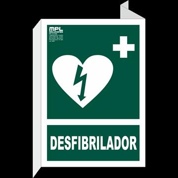 Banderola: DESFIBRILADOR