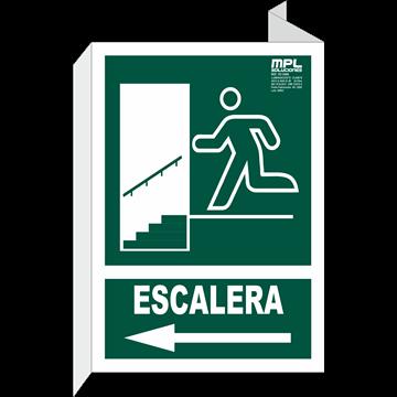 Banderola: SALIDA ESCALERA IZQ.