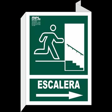 Banderola: SALIDA ESCALERA DER.