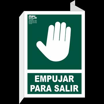 Banderola: EMPUJAR PARA SALIR