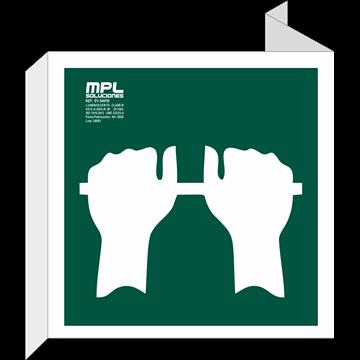 Banderola Cuadrada: Presionar la barra para salir