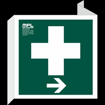 Banderola Cuadrada: Botiquin derecha