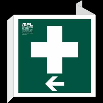 Banderola Cuadrada: Botiquin izquierda