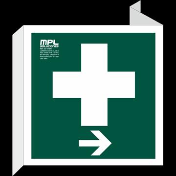Banderola Cuadrada: Clinica derecha