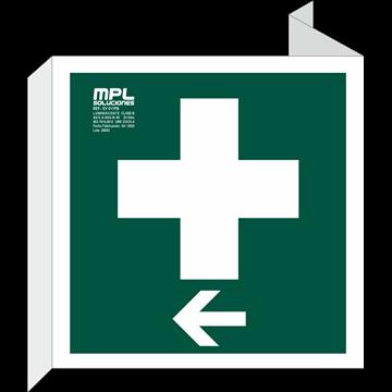 Banderola Cuadrada: Clinica izquierda