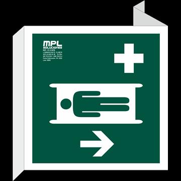 Banderola Cuadrada: Primeros auxilios derecha