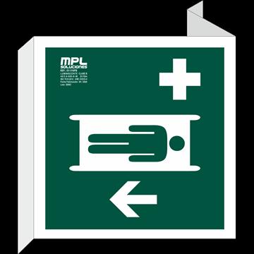 Banderola Cuadrada: Primeros auxilios izquierda