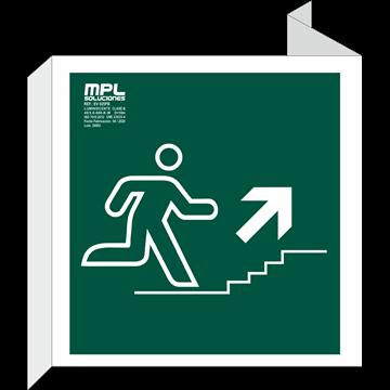 Banderola Cuadrada: Subida escalera derecha