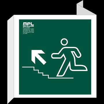 Banderola Cuadrada: Subida escalera izquierda