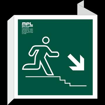 Banderola Cuadrada: Bajada escalera derecha