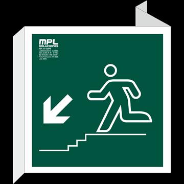 Banderola Cuadrada: Bajada escalera izquierda