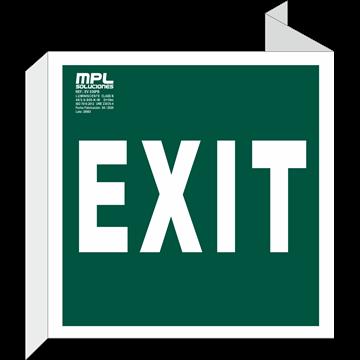Banderola Cuadrada: Exit