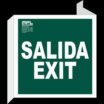 Banderola Cuadrada: Salida / Exit