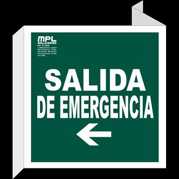 Banderola Cuadrada: Salida de emergencia izquierda