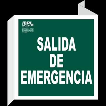 Banderola Cuadrada: Salida de emergencia